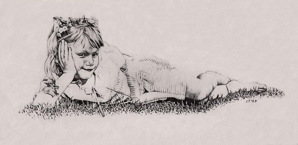 restful little girl