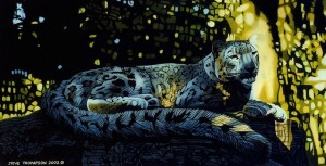 twilight snow leopard